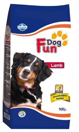 Фармина Корм сухой Fun Dog Lamb для собак склонных к пищевой аллергии, Ягненок, 10 кг, Farmina
