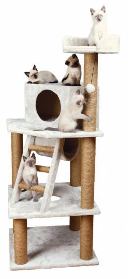 Трикси Домик для кошки Marlena, 151 см, светло-серый, Trixie