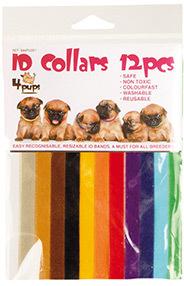 ШоуТеч Ошейники для идентификации щенков в помете на липучке 4Pups Id Collars, в наборе 12 ошейников, длина 35 см, Show Tech