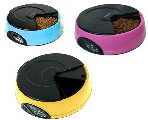 Фидекс Кормушка автоматическая PF2 на 4 кормления с ЖК дисплеем, 32*8,5 см, в ассортименте, Feed-Ex