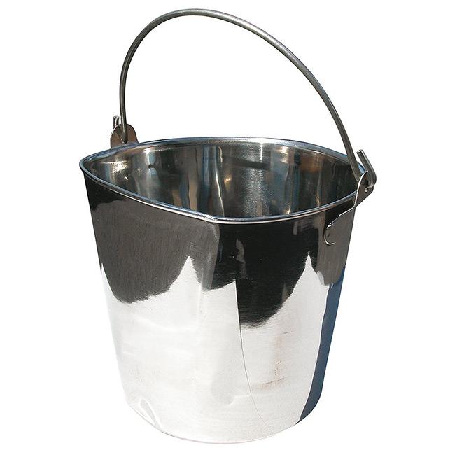 ШоуТеч Ведро из нержавеющей стали для воды и корма, в ассортименте, ShowTech