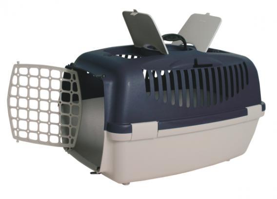 Трикси Переноска пластиковая Capri 3 с пластиковой дверцей, 61*40*38 см, в ассортименте, Trixie