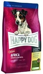 Корм Хеппи Дог сухой беззерновой Суприм Africa Mini для собак мелких пород с чувствительным пищеварением, Страус/Картофель, 4 кг, Happy Dog