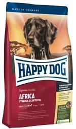 Корм Хеппи Дог сухой беззерновой Суприм Africa для взрослых собак весом от 11 кг, Страус/Картофель, в ассортименте, Happy Dog