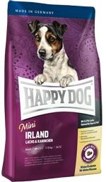 Корм Хеппи Дог сухой Суприм Ireland Mini для собак мелких пород с чувствительным пищеварением, Лосось/Кролик, 4 кг, Happy Dog