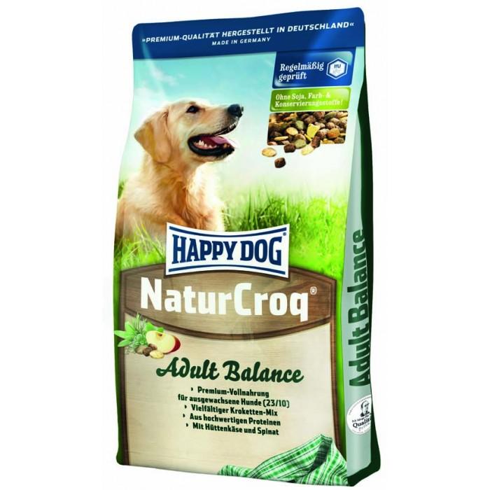 Корм Хеппи Дог сухой NaturCroq Adult Balance для собак с зерновыми культурами, овощами и домашним сыром, 15 кг, Happy Dog
