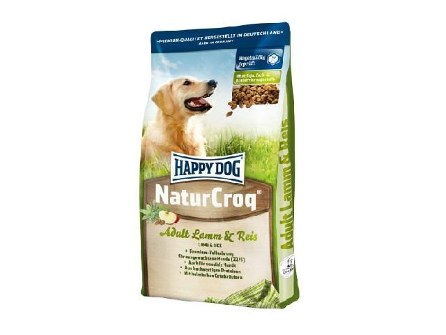 Корм Хеппи Дог сухой NaturCroq Lamm/Reis для взрослых собак, Ягненок/Рис, в ассортименте, Happy Dog