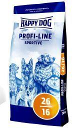 Корм Хеппи Дог сухой Profi-Line Sport 26/16 для взрослых собак с высокой активностью, 20 кг, Happy Dog