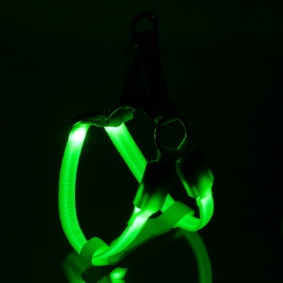 ПетЛайн Шлейка светящаяся Супер Яркая, нейлон, в ассортименте, PetLine
