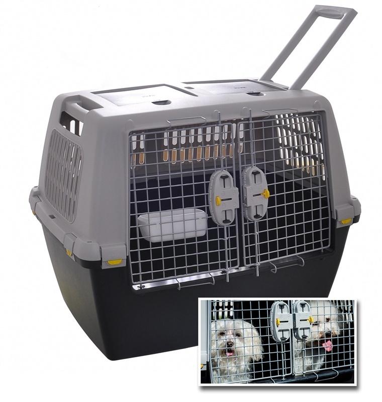 Стефанпласт Переноска Gulliver Touring в самолет для 1-2 собак, с выдвижной ручкой, 80*58,5*62 см, без колес, Stefanplast