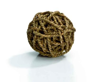 Игрушка для грызунов Мячик из плетёной соломы, 8 см, I.P.T.S.