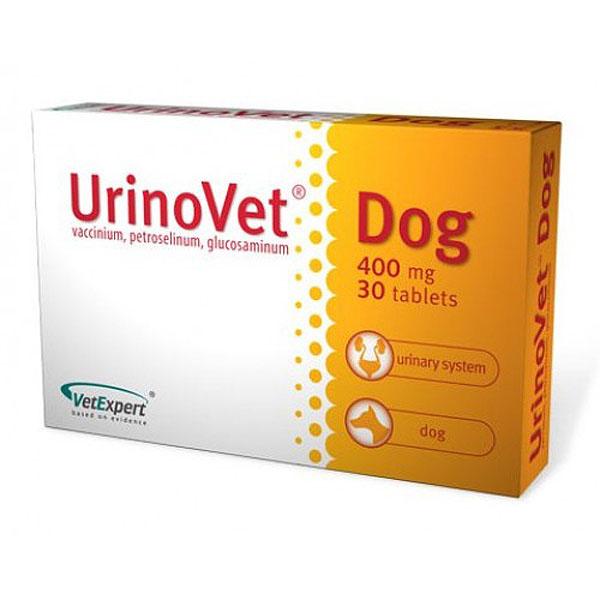 ВетЭксперт Уропротектор UrinoVet Dog (УриноВет Дог), 30 таб по 400 мг, VetExpert