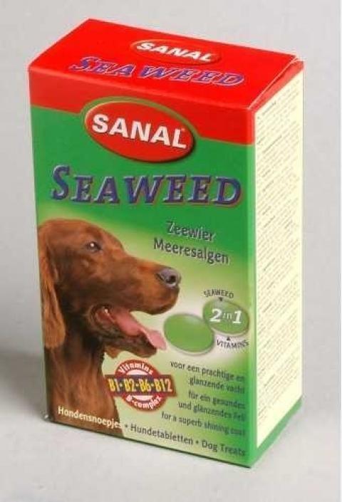 Санал Витаминный комплекс Seaweed для усиления пигментации собак, 100 шт, Sanal
