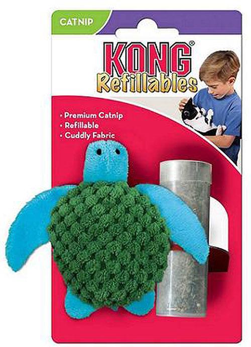 """Конг Игрушка для кошек """"Черепашка"""", с тубом кошачьей мяты, 9 см, Kong"""