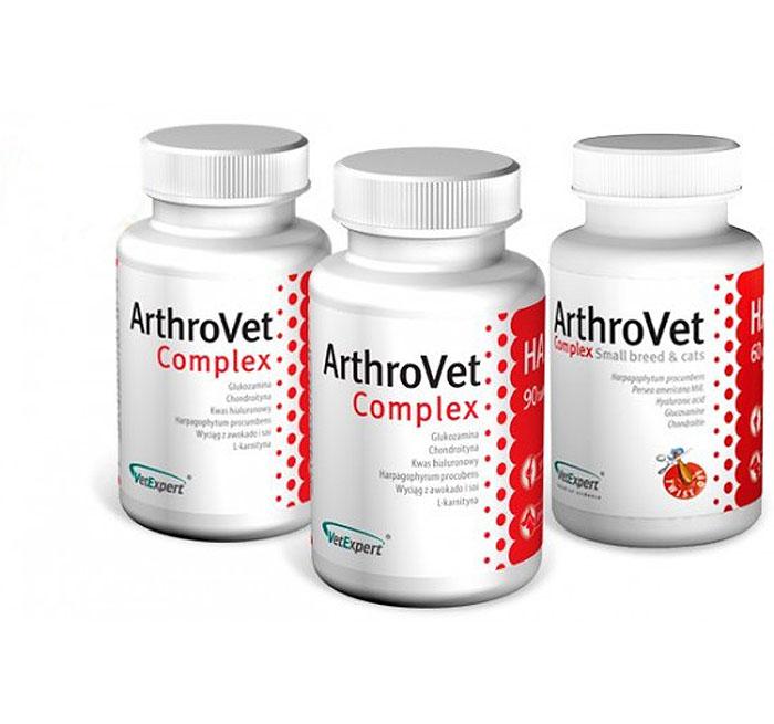 ВетЭксперт Комплекс c гиалуроновой кислотой для собак и кошек ArthroVet Complex HA (АртроВет Комплекс), в ассортименте, Vetericyn