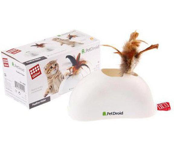 Гигви Электронная игрушка для кошек Pet Droid, Фезер Хайдер со звуковым чипом, 15 см, GiGwi