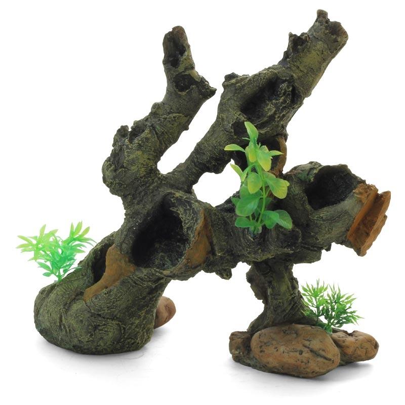 "Лагуна-Триол Декорация ""Коряга с растениями"", 30*15*28 см, Lagunа-Triol"