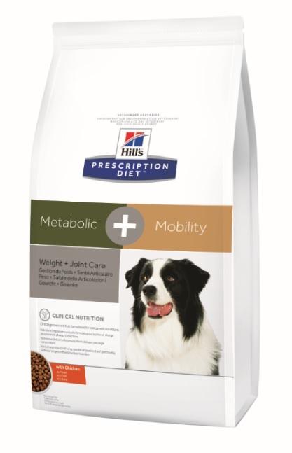 Корм Хиллс Prescription Diet Metabolic+Mobility сухой для коррекции веса и здоровья суставов у собак, 12 кг, Hills