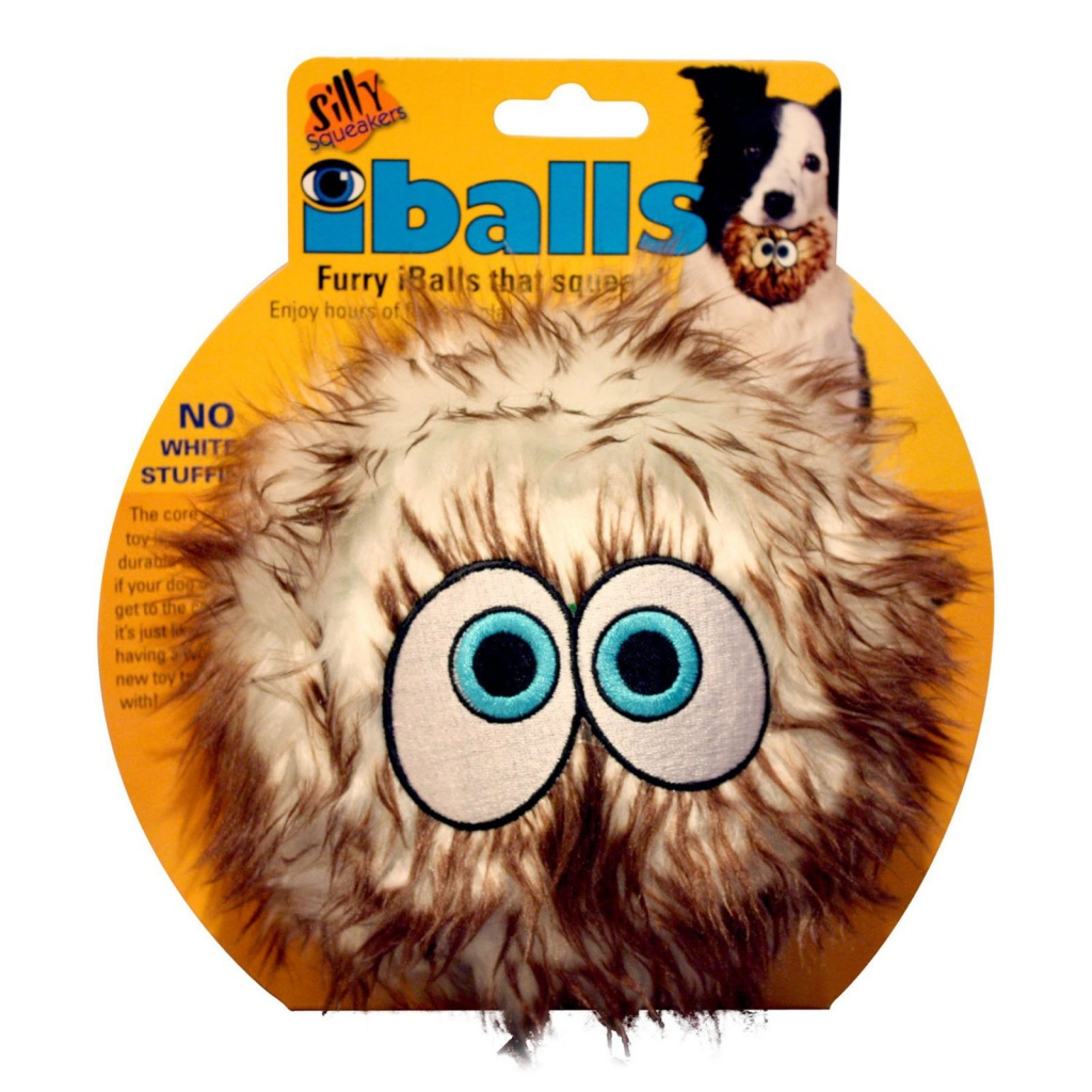 Cилли Скуикэрз Игрушка-пищалка iBall Large (Пушистый мяч с глазами), большой,  в ассортименте, Silly Squeakers