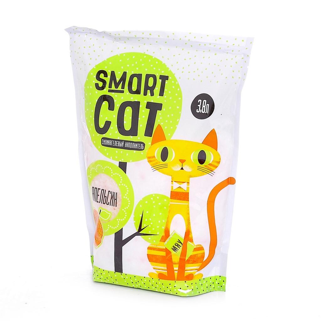 Смарт Кэт Наполнитель силикагелевый с ароматом апельсина, в ассортименте, Smart Cat