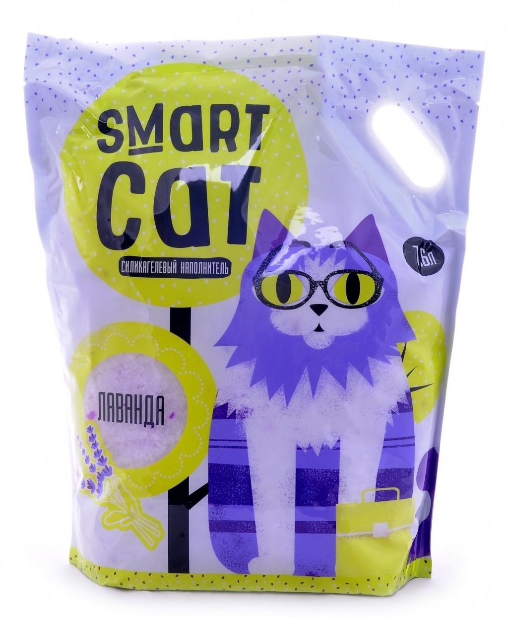 Смарт Кэт Наполнитель силикагелевый с ароматом лаванды, в ассортименте, Smart Cat