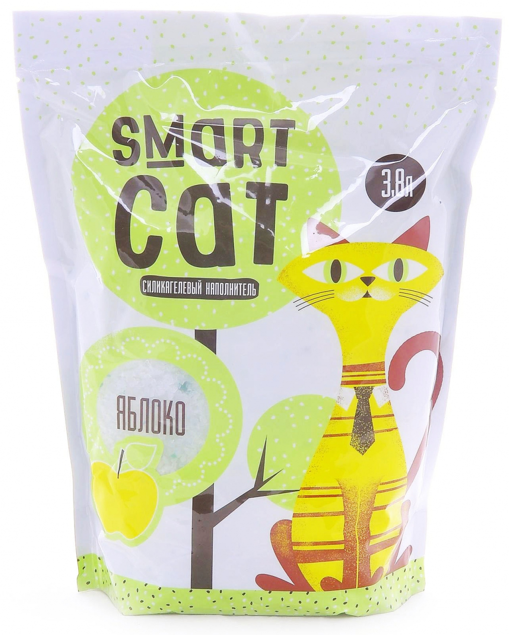 Смарт Кэт Наполнитель силикагелевый с ароматом яблока, в ассортименте, Smart Cat