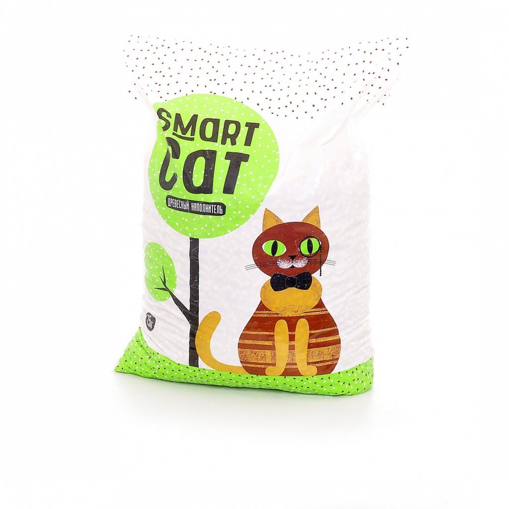 Смарт Кэт Наполнитель древесный для кошачьего туалета, в ассортименте, Smart Cat