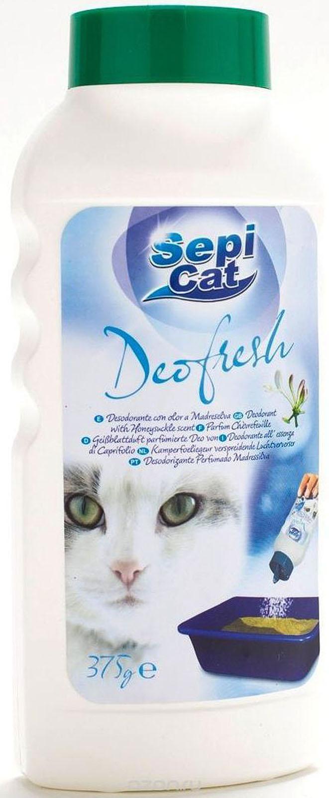 """Сепиолса Сухой уничтожитель запаха (дезодорант) Sepicat Deofresh """"Деофреш"""" для кошачьего туалета, 380 г, Sepiolsa"""