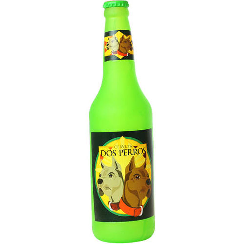 "Силли Скуикэрз Виниловая игрушка-пищалка Beer Bottle Dos Perros ""Бутылка пива Два пса"", вес 204 г, Silly Squeakers"