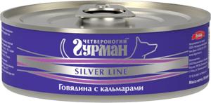 Четвероногий гурман Консервы для собак Серебряная линия Silver line, 100 г, в ассортименте