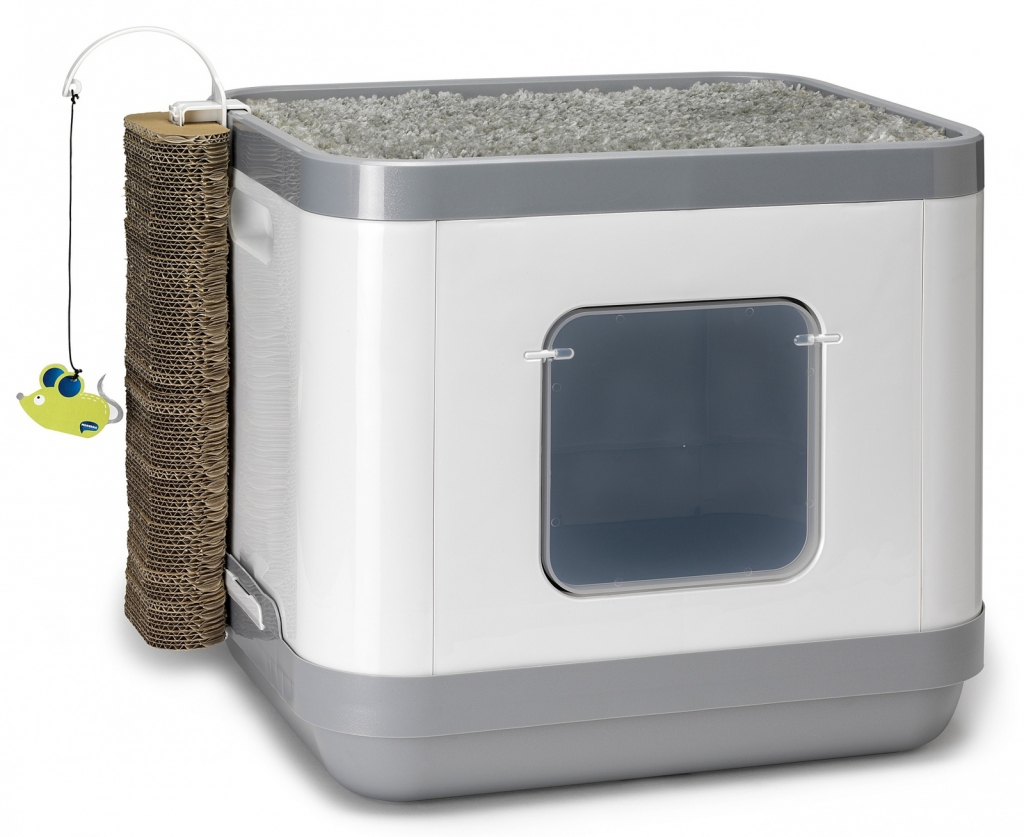 Модерна Комплекс Cat Concept 4в1 (туалет-бокс, лежанка, дразнилка, когтеточка), 40*48*43 см, Moderna Products