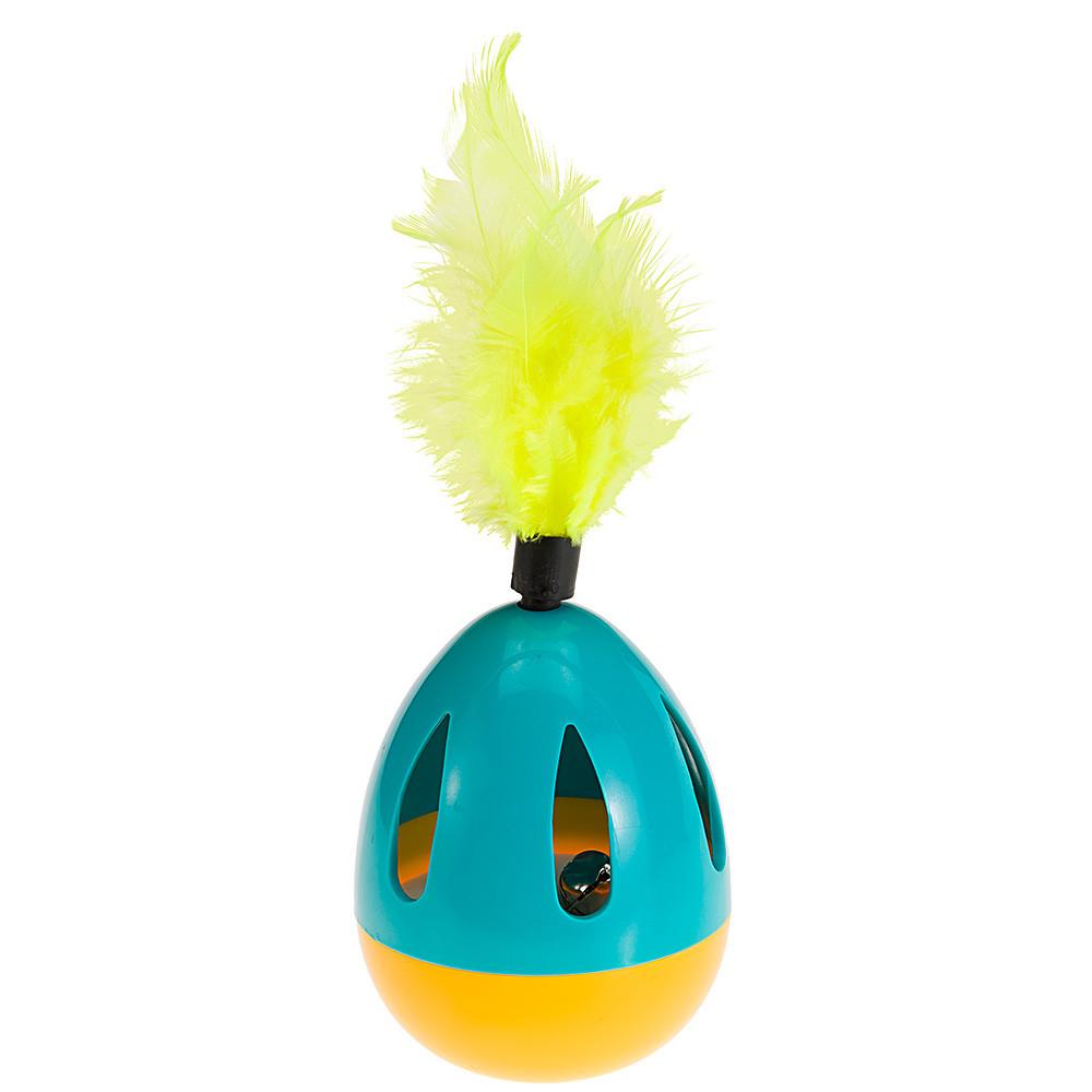 Ферпласт Игрушка-неваляшка для кошек PA 5415 Яйцо, диаметр 7 см, высота 22 см, Ferplast