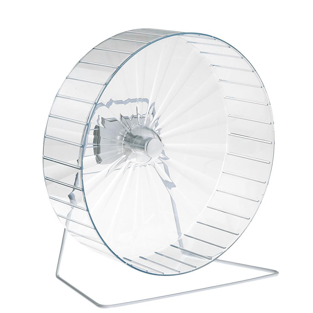 Ферпласт Пластиковое беговое бесшумное колесо FPI 4607 на металлической подставке, диаметр 30 см, ширина дорожки 9 см, Ferplast