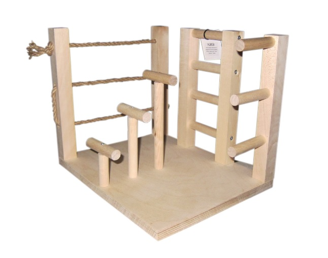 ПарротсЛаб Игровая площадка PL3003 для мелких и средних птиц, 30*24*25 см, ParrotsLab