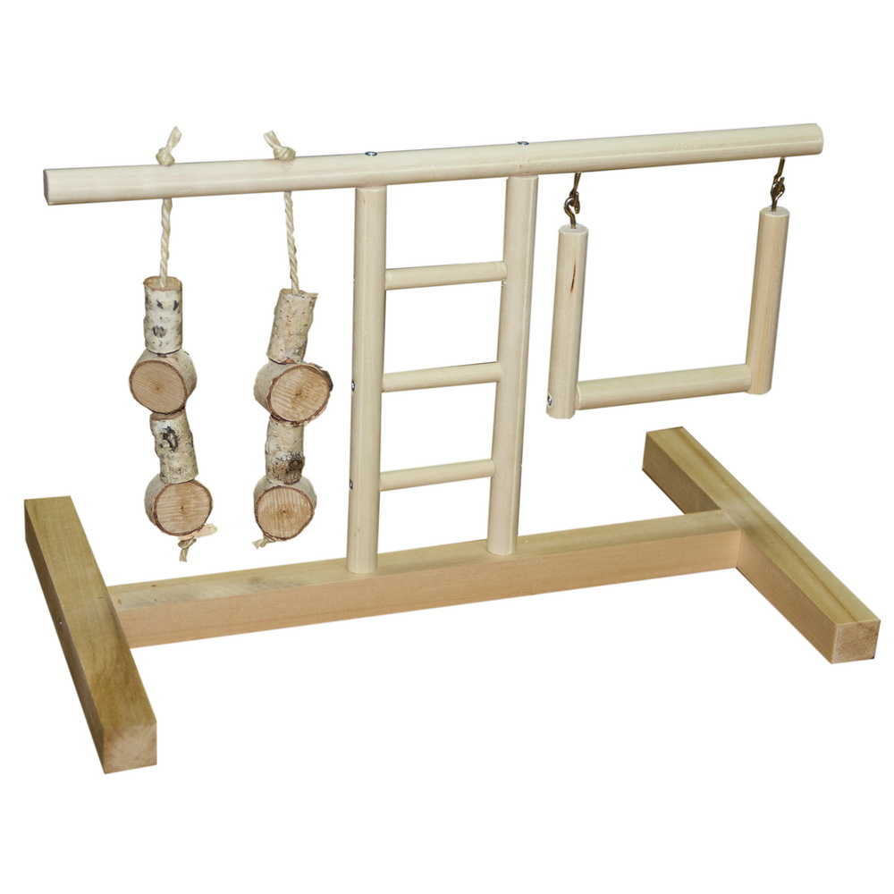 ПарротсЛаб Игровая площадка PL3021 для мелких и средних птиц, 40*24*25 см, ParrotsLab