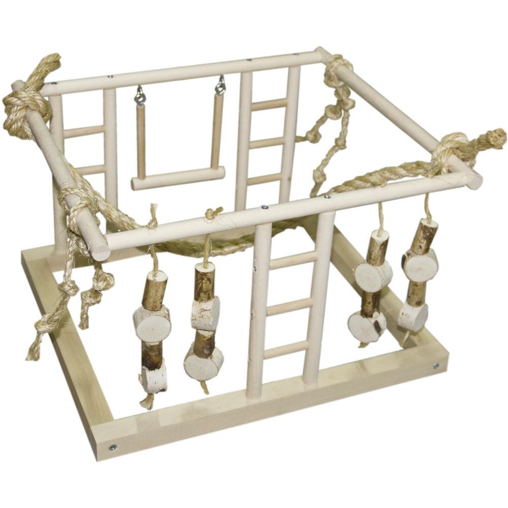 ПарротсЛаб Игровая площадка PL3037 для мелких и средних птиц, 40*36*25 см, ParrotsLab