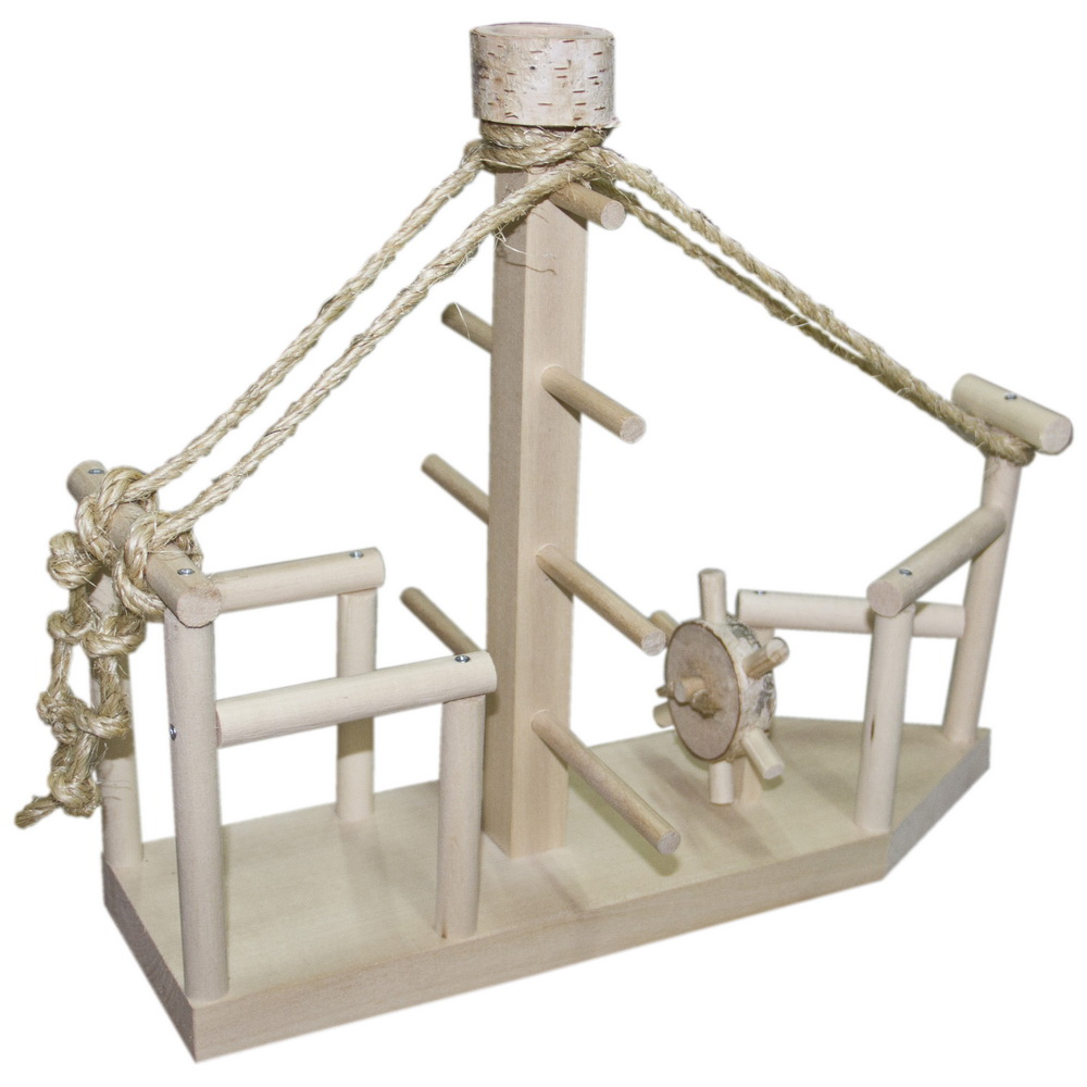 ПарротсЛаб Игровая площадка PL3038 для мелких и средних птиц, 40*23*34 см, ParrotsLab