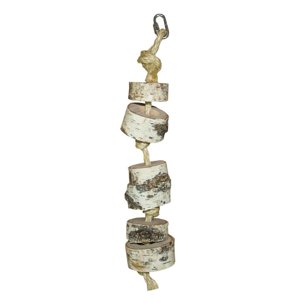 ПарротсЛаб Фуражная игрушка PL1034 для крупных птиц, диаметр 4-6 см, длина 35 см, ParrotsLab