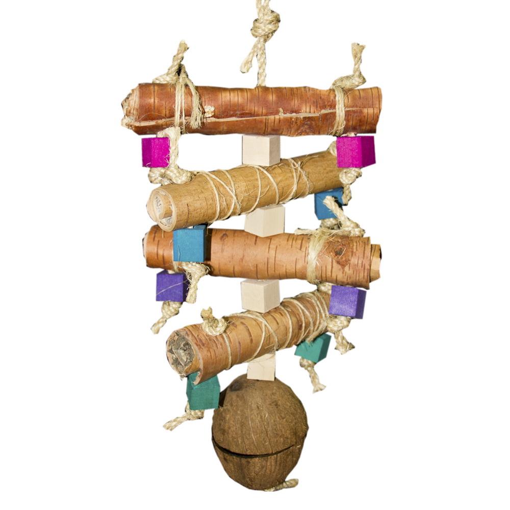ПарротсЛаб Мега-подвеска и фуражная игрушка PL4029 для крупных птиц, 55*22 см, ParrotsLab