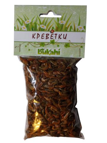 Букахи Сушеные креветки для насекомоядных животных, рептилий и грызунов, 20 г, Bukahi