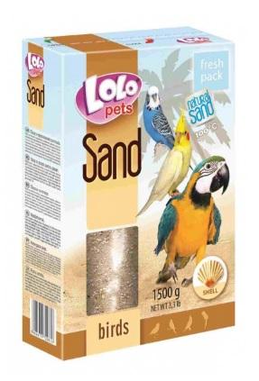 ЛолоПетс Песок для всех видов птиц, в ассортименте, 1,5 кг, LoloPets