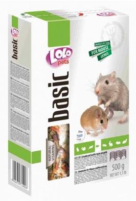 ЛолоПетс Корм полнорационный с сыром для мышей и песчанок, 500 г, LoloPets