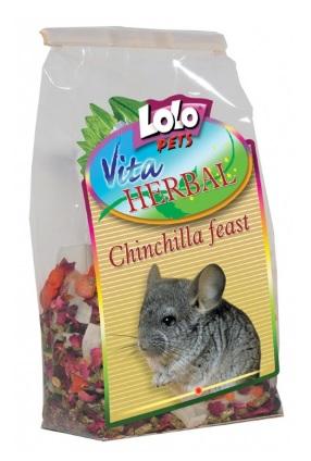 ЛолоПетс Трапеза для шиншилл Herbal Chinchilla Feast, 150 г, LoloPets
