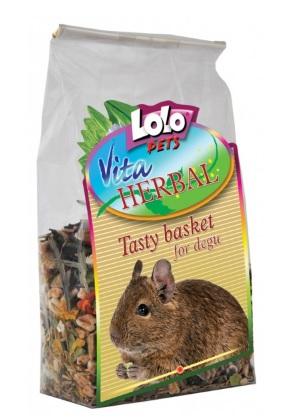 ЛолоПетс Био-корзина для дегу Herbal Tasty basket for degu, 150 г, LoloPets