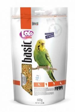 ЛолоПетс Корм для волнистых попугаев полнорационный, 600 г, LoloPets