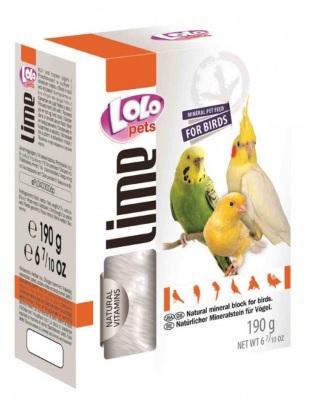ЛолоПетс Большой минеральный натуральный камень XL для птиц, 190 г, LoloPets