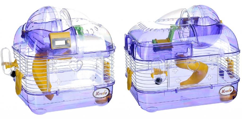 Кредо Клетка для мышей и хомяков со счётчиком пробега, в ассортименте, Kredo