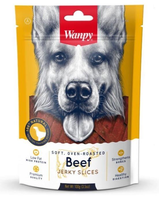 Ванпи Лакомство для собак Мясная соломка, в ассортименте, 100 г, Wanpy