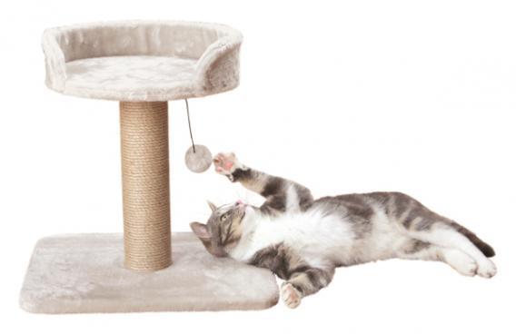 Трикси Когтеточка Mica с лежанкой, 45*35*46 см, светло-серый, Trixie