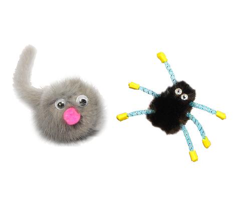Игрушка для кошек из  натуральной норки, 5 см, в ассортименте, GoSi